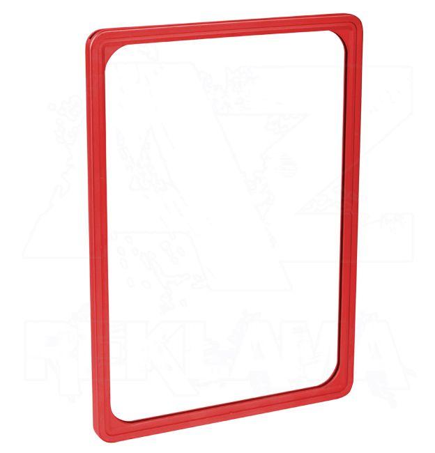 Plastový plakátový rámeček 100, A4, červený