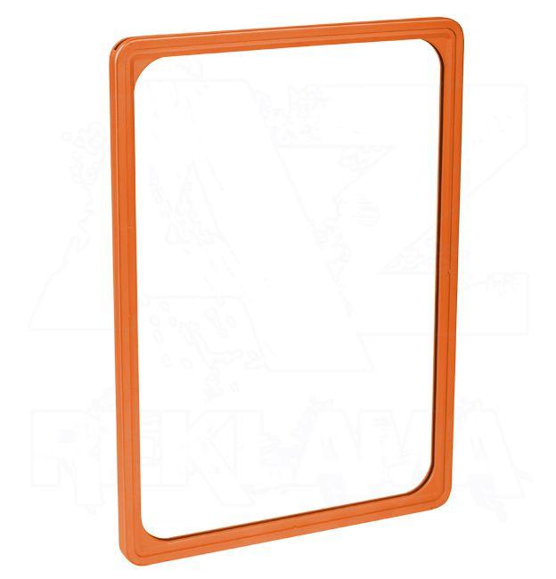 Plastový plakátový rámeček 100, A4, oranžový