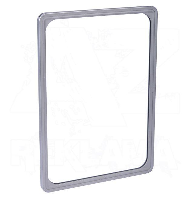Plastový plakátový rámeček 100, A4, stříbrný