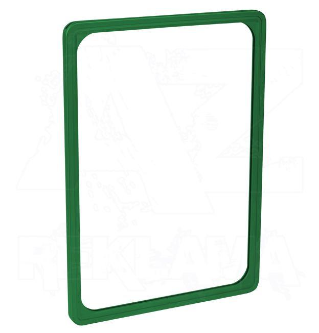 Plastový plakátový rámeček 100, A4, zelený