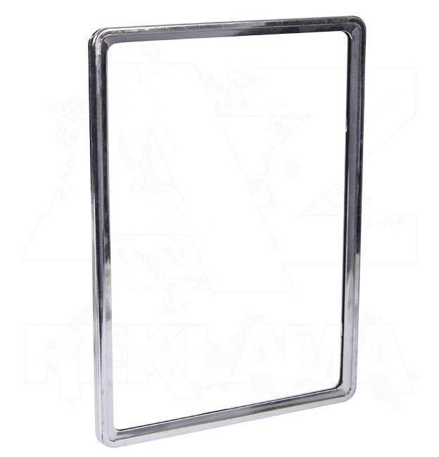 Plastový plakátový rámeček 100, A5, chrom
