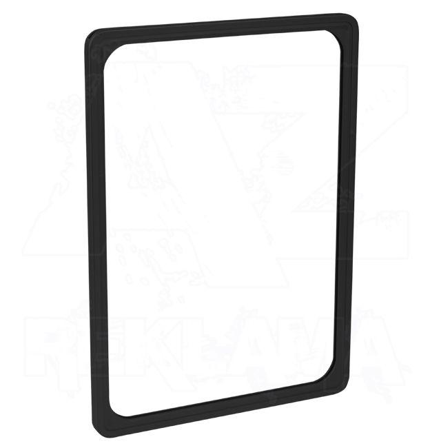 Plastový plakátový rámeček - M 8 mm A5, černý