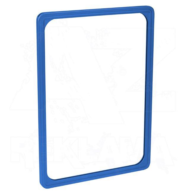 Plastový plakátový rámeček - M 8 mm A5, modrý