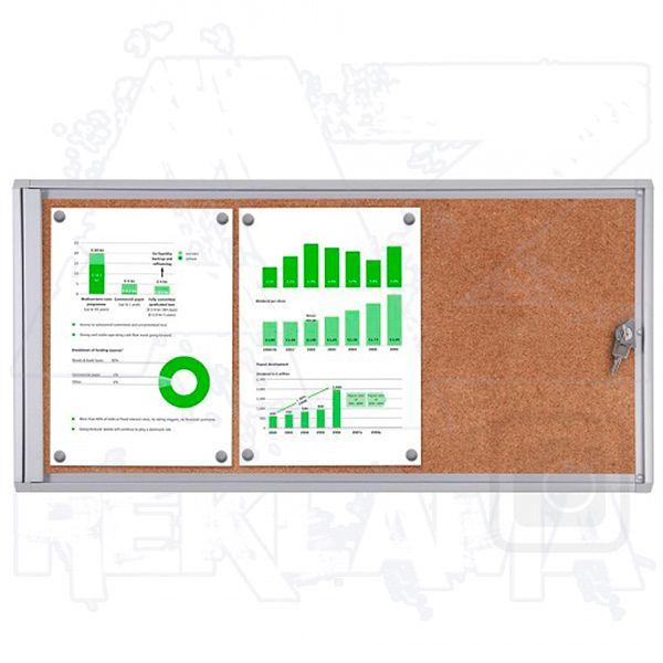 Informační Vitrína interiérová - 3xA4 korková stěna - SCRITTO ECONOMY A-Z Reklama CZ