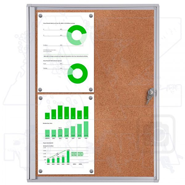 Informační Vitrína interiérová - 4xA4 korková stěna - SCRITTO ECONOMY A-Z Reklama CZ