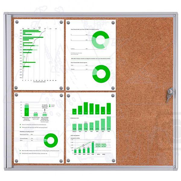 Informační Vitrína interiérová - 6xA4 korková stěna - SCRITTO ECONOMY A-Z Reklama CZ