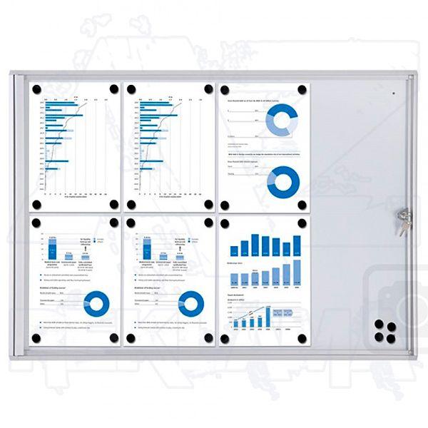 Informační Vitrína interiérová - 8xA4 SCRITTO ECONOMY A-Z Reklama CZ