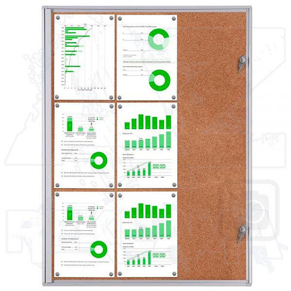 Informační Vitrína interiérová - 9xA4 korková stěna - SCRITTO ECONOMY A-Z Reklama CZ
