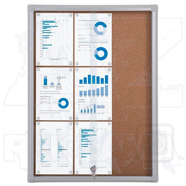 Informační Vitrína SCRITTO s posuvnými dvířky 9xA4 Korková stěna A-Z Reklama CZ