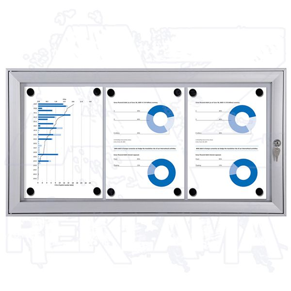 interiérová / venkovní vitrína SCRITTO pro prospekty 3xA4 A-Z Reklama CZ