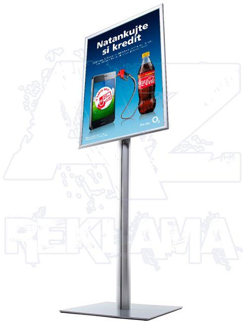 Info Pole s klaprámem na plakát A1 - ostrý roh