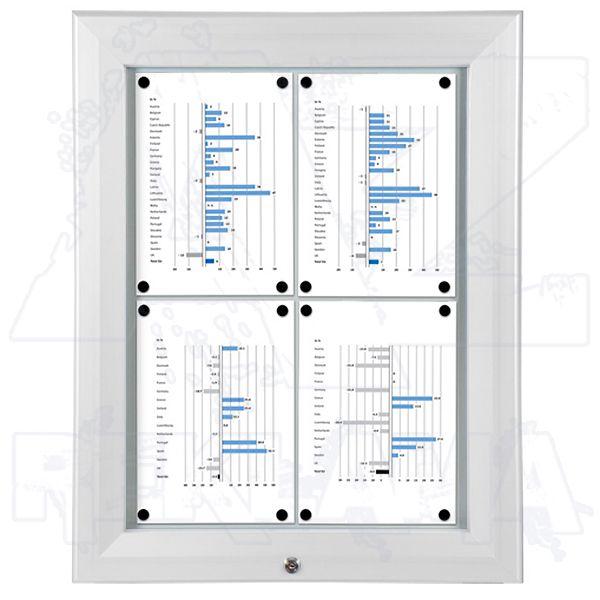 SCT PREMIUM - Bílá venkovní vitrína pro prospekty 4xA4 A-Z Reklama CZ