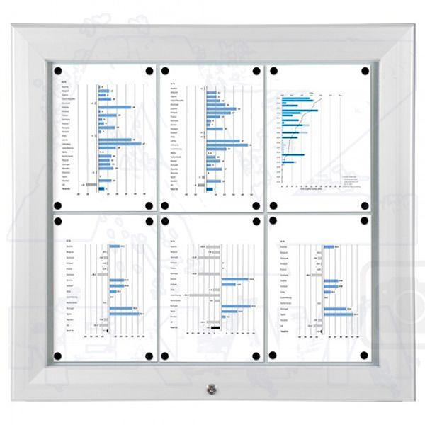SCT PREMIUM - Bílá venkovní vitrína pro prospekty 6xA4 A-Z Reklama CZ