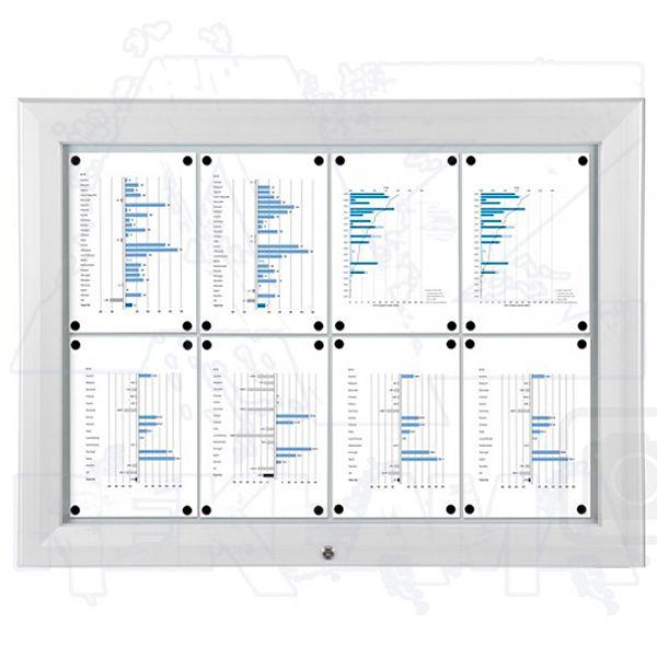 SCT - venkovní vitrína Bílá 8xA4