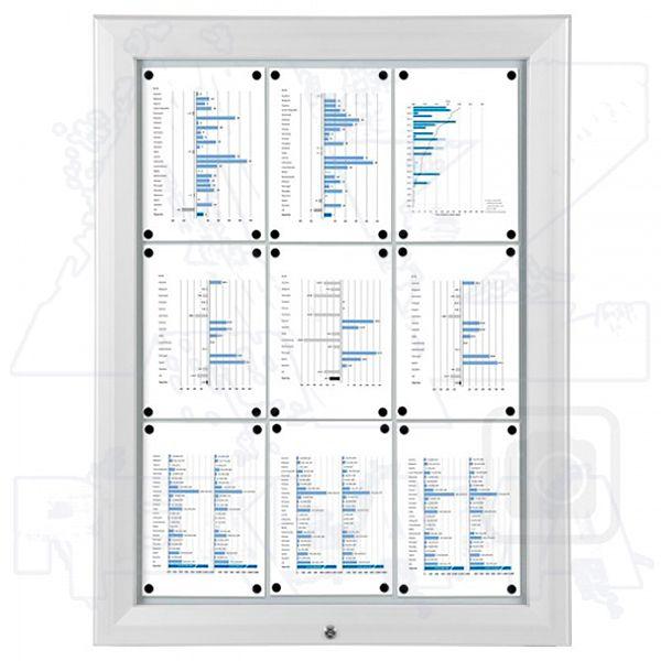SCT PREMIUM - Bílá venkovní vitrína pro prospekty 9xA4 A-Z Reklama CZ