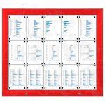 SCT - venkovní vitrína Červená 15xA4