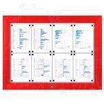 SCT - venkovní vitrína Červená 8xA4