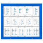 SCT PREMIUM - Modrá venkovní vitrína pro prospekty 15xA4 A-Z Reklama CZ