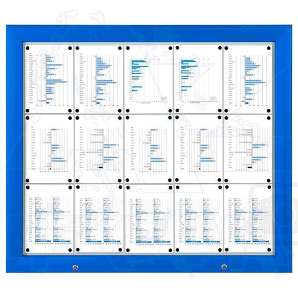 SCT - venkovní vitrína Modrá 15xA4