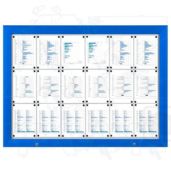 SCT - venkovní vitrína Modrá 18xA4