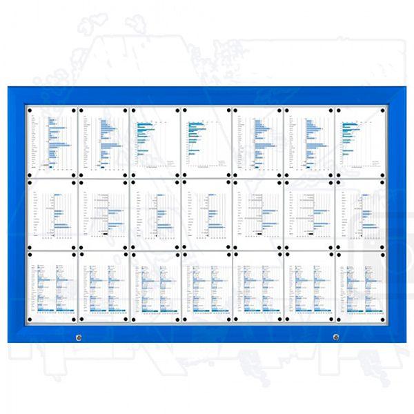 SCT PREMIUM - Modrá venkovní vitrína pro prospekty 21xA4 A-Z Reklama CZ