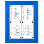SCT - venkovní vitrína Modrá 4xA4