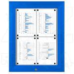 SCT PREMIUM - Modrá venkovní vitrína pro prospekty 4xA4 A-Z Reklama CZ