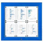 SCT - venkovní vitrína Modrá 6xA4