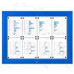 SCT PREMIUM - Modrá venkovní vitrína pro prospekty 8xA4 A-Z Reklama CZ