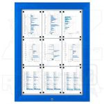 SCT - venkovní vitrína Modrá 9xA4