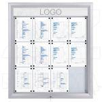 SCT - prosvětlená LED vitrína 12xA4