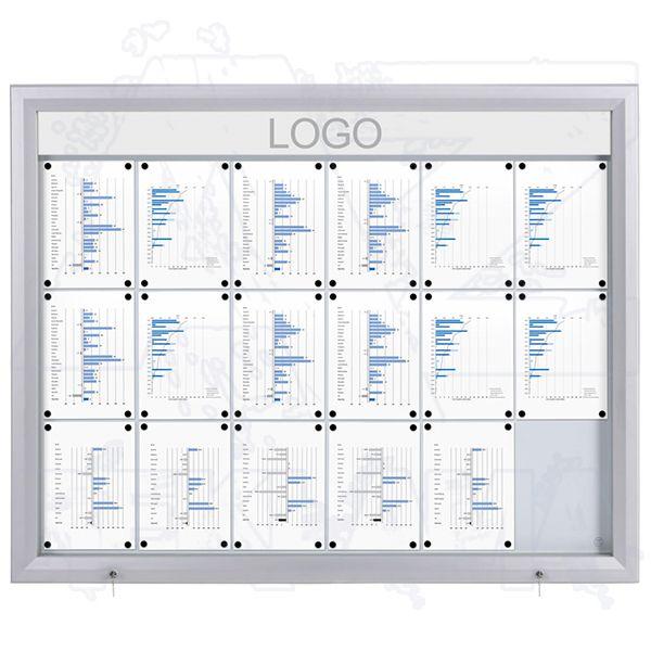 SCT PREMIUM Venkovní prosvětlená LED vitrína 18xA4 A-Z Reklama CZ