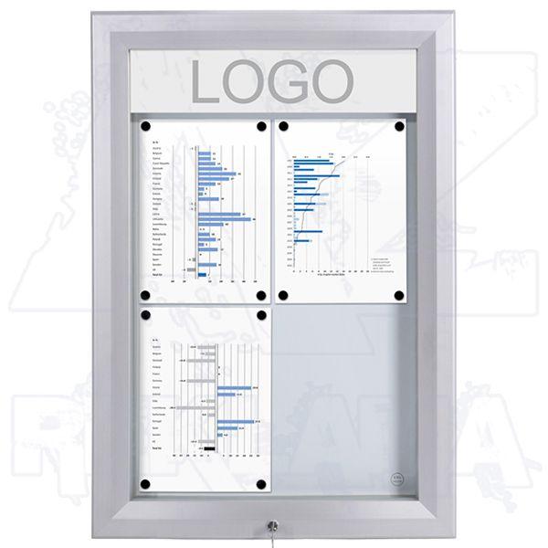 SCT PREMIUM Venkovní prosvětlená LED vitrína 4xA4