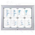 SCT - Premium venkovní vitrína 8xA4