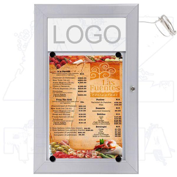 Venkovní prosvětlená LED vitrína MENU BOARD na Menu 1xA4 A-Z Reklama CZ