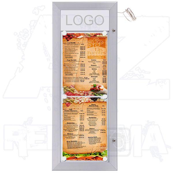 Venkovní prosvětlená TLED vitrína MENU BOARD na Menu 2xA4 A-Z Reklama CZ