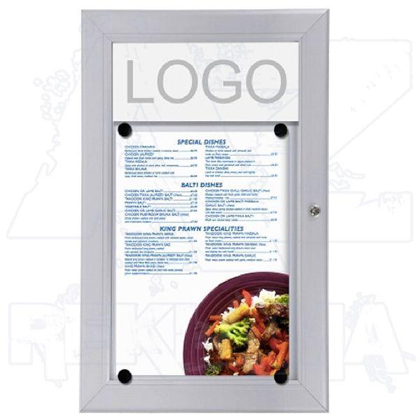 Venkovní vitrína MENU BOARD na Menu pro prospekty 1xA4 A-Z Reklama CZ