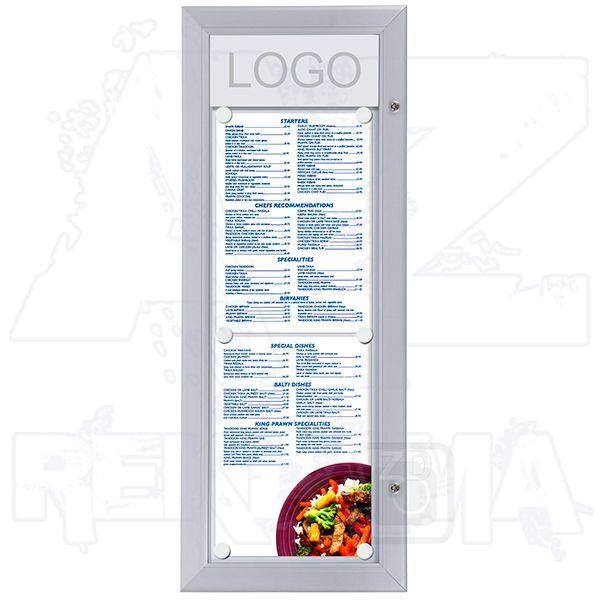Venkovní vitrína MENU BOARD na Menu pro prospekty 2xA4T A-Z Reklama CZ