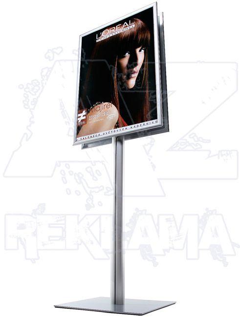 Info Pole s klaprámem B1 oboustranný - oblý roh A-Z Reklama CZ