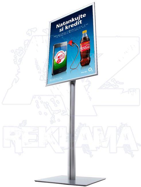 Info Pole s klaprámem na plakát A1 - oblý roh