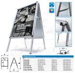Reklamní stojan Áčko na plakáty B2 50x70 - oblý roh A-Z Reklama CZ