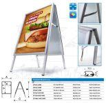 Reklamní stojan Áčko na plakáty B2 50x70 - ostrý roh A-Z Reklama CZ