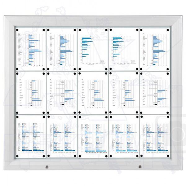 SCT PREMIUM - Bílá venkovní vitrína pro prospekty 15xA4 A-Z Reklama CZ