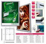 SCT PREMIUM venkovní prosvětlená LED vitrína na plakát 140x100 A-Z Reklama CZ