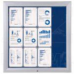 SCT vitrína Textilní stěna 12xA4 Modrá