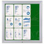 SCT vitrína Textilní stěna 12xA4 Zelená
