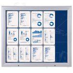 SCT vitrína Textilní stěna 15xA4 Modrá