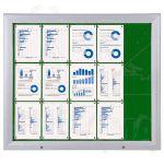 SCT vitrína Textilní stěna 15xA4 Zelená
