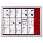 SCT vitrína Textilní stěna 18xA4 Červená