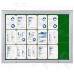 SCT vitrína Textilní stěna 18xA4 Zelená